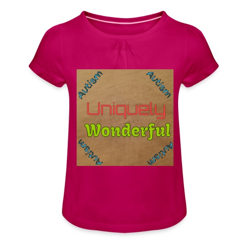 Autism statement - Girl's T-Shirt with Ruffles
