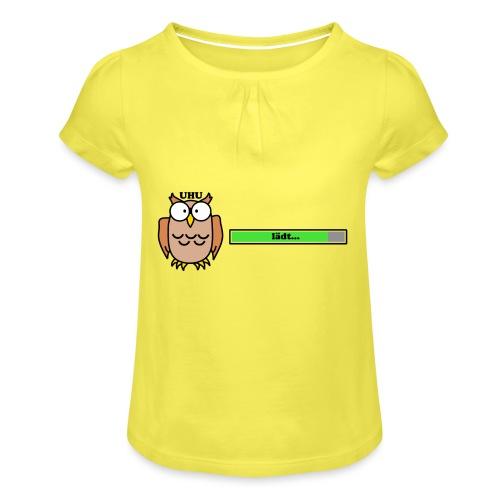 Uhu - Mädchen-T-Shirt mit Raffungen