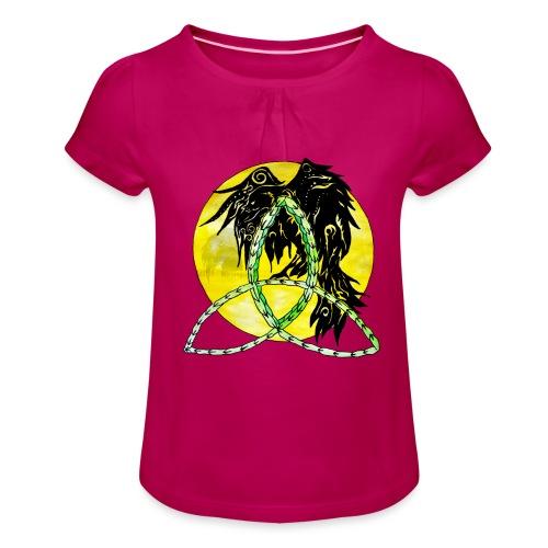 tribalrabe2 - Mädchen-T-Shirt mit Raffungen