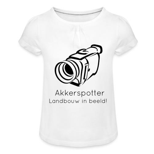 Logo akkerspotter - Meisjes-T-shirt met plooien