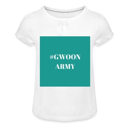 #gwoonarmy - Meisjes-T-shirt met plooien