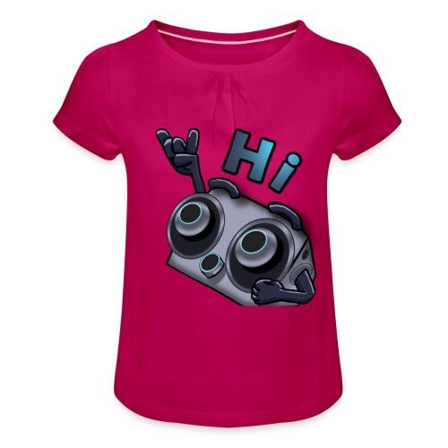 The DTS51 emote1 - Meisjes-T-shirt met plooien