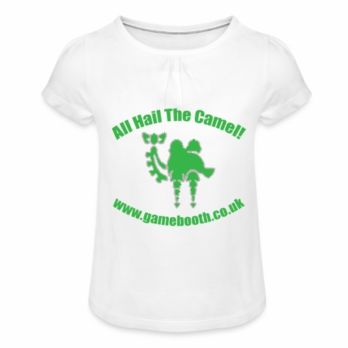 All Hail The Camel! - Girl's T-Shirt with Ruffles
