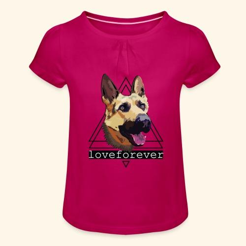 SHEPHERD LOVE FOREVER - Camiseta para niña con drapeado