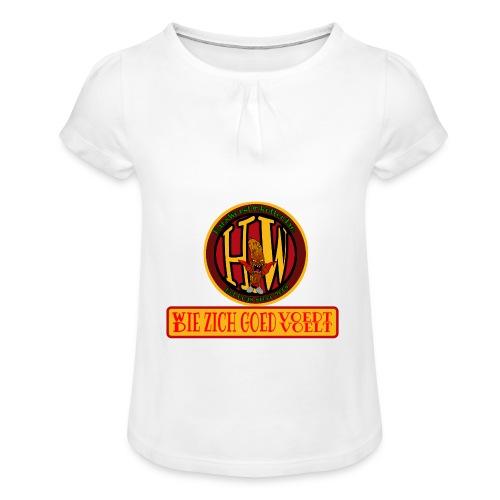 wie en die png - Girl's T-Shirt with Ruffles