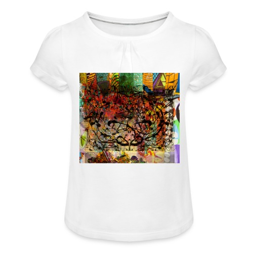 urban tribute - T-shirt à fronces au col Fille