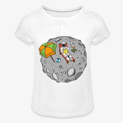 To the Moon - T-shirt à fronces au col Fille