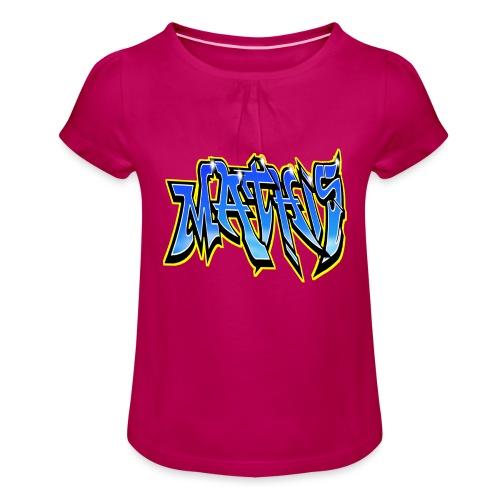 Graffiti Mathis - T-shirt à fronces au col Fille