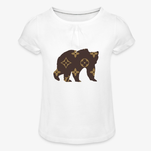 alouci x lv - T-shirt med rynkning flicka
