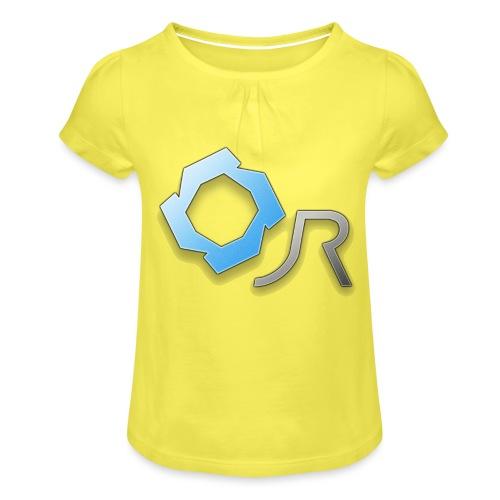 Original JR Logo - Girl's T-Shirt with Ruffles