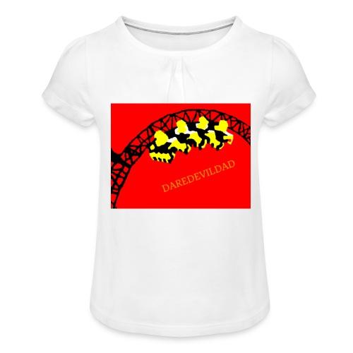 DareDevilDad - Girl's T-Shirt with Ruffles