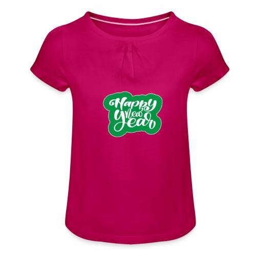 flubbers new year - Mädchen-T-Shirt mit Raffungen