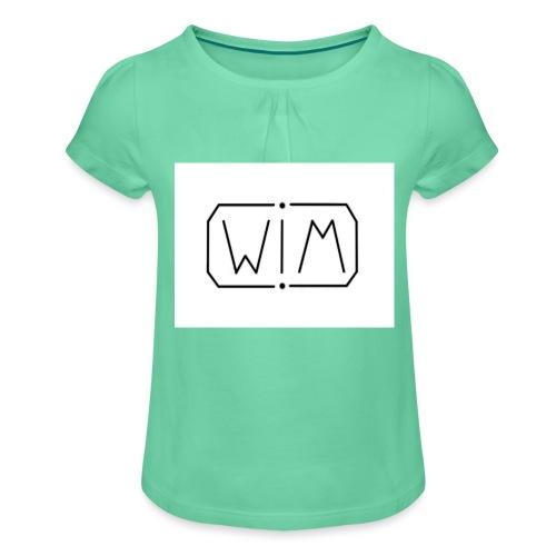 normal WIM design - Meisjes-T-shirt met plooien