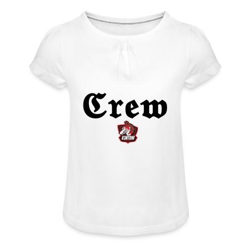 member schwarz - Mädchen-T-Shirt mit Raffungen