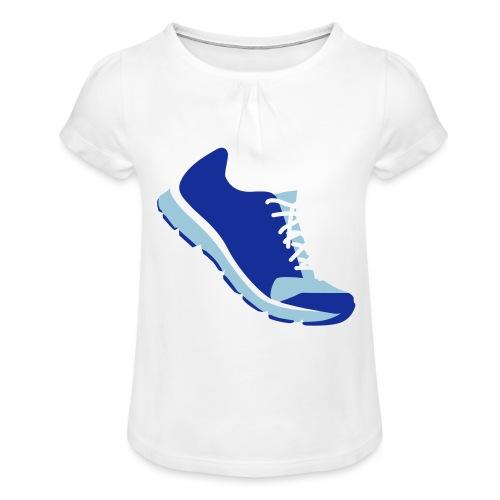 Laufschuh - Mädchen-T-Shirt mit Raffungen