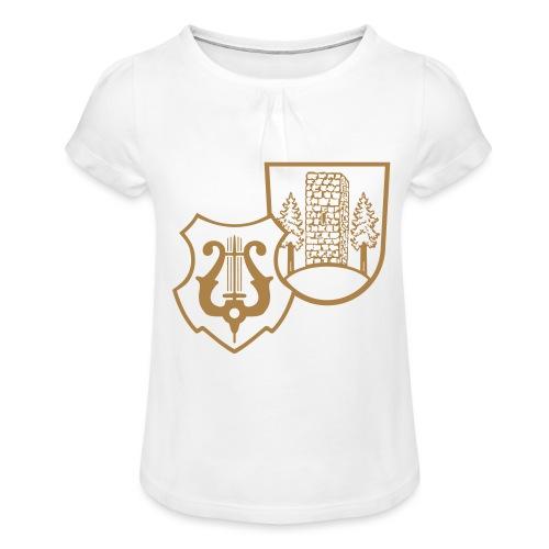 MVW Welden Logo Schwarz gross - Mädchen-T-Shirt mit Raffungen