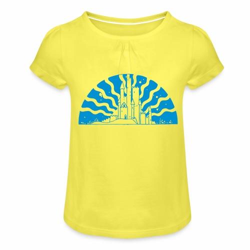 Fairytale Castle Sunrise - Mädchen-T-Shirt mit Raffungen