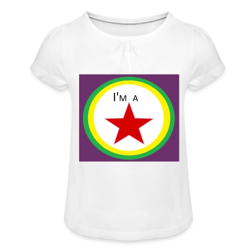 I'm a STAR! - Girl's T-Shirt with Ruffles