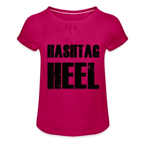 hashtagheel - Girl's T-Shirt with Ruffles