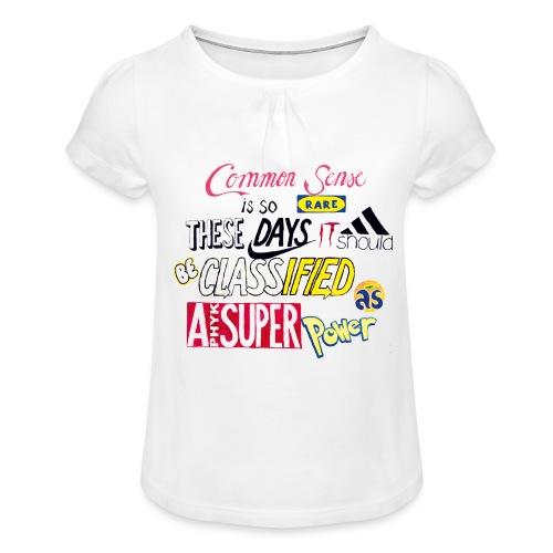 PHYK-logoja - Tyttöjen t-paita, jossa rypytyksiä