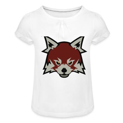 Red panda merch - Girl's T-Shirt with Ruffles