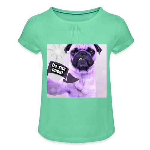 I'm the boss - Pige T-shirt med flæser