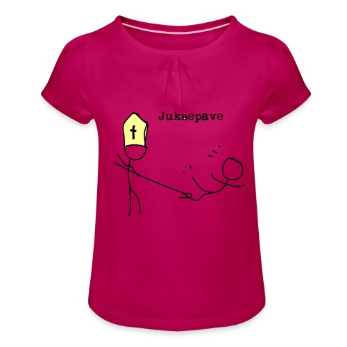 juksepave png - Jente-T-skjorte med frynser