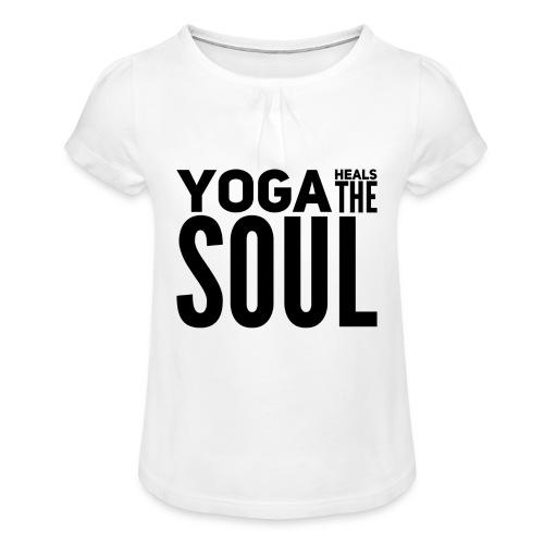 yogalover - Meisjes-T-shirt met plooien