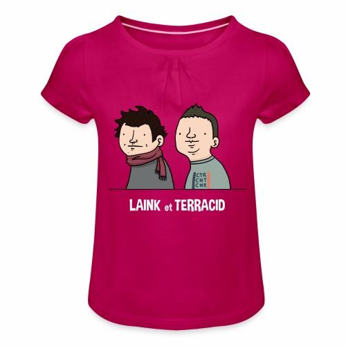 Laink et Terracid old - T-shirt à fronces au col Fille
