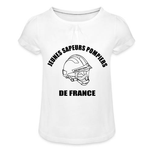 Jeunes Sapeurs Pompiers de France - T-shirt à fronces au col Fille