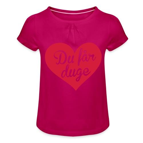 Ekte kjærlighet - Det norske plagg - Jente-T-skjorte med frynser