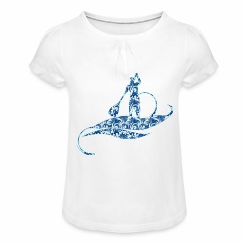 Blue Ocean - T-shirt à fronces au col Fille