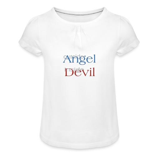 Angelo o Diavolo? - Maglietta da ragazza con arricciatura
