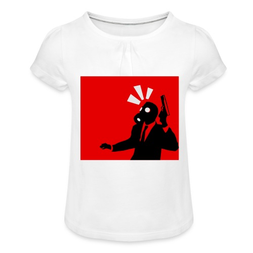 Gasmask - Girl's T-Shirt with Ruffles