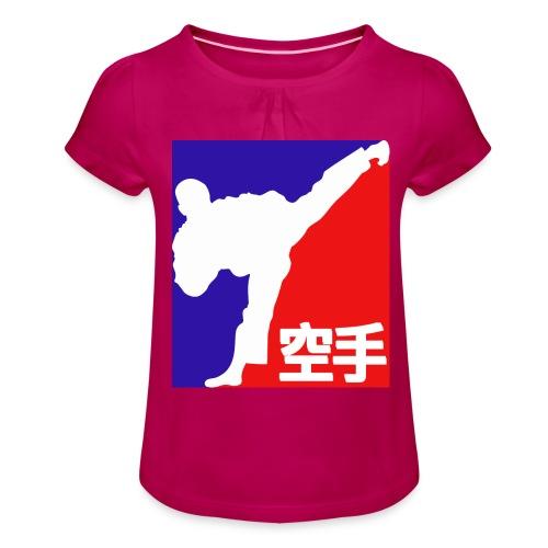 karate - Girl's T-Shirt with Ruffles