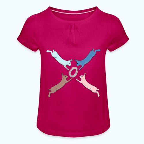 Easter - Girl's T-Shirt with Ruffles