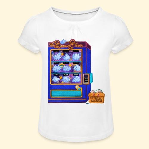 Distributeur de Beaux Rêves - T-shirt à fronces au col Fille
