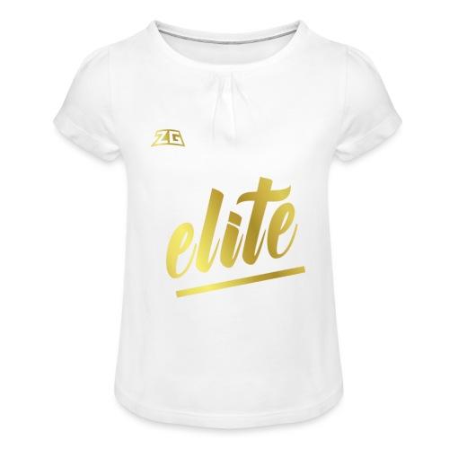 zeitloser stuff - Mädchen-T-Shirt mit Raffungen