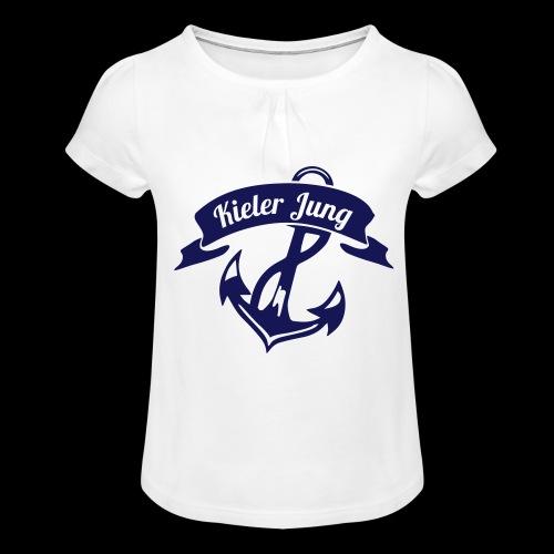 KielerJung - Mädchen-T-Shirt mit Raffungen