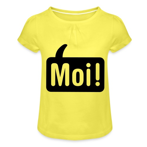 hoi shirt front - Meisjes-T-shirt met plooien