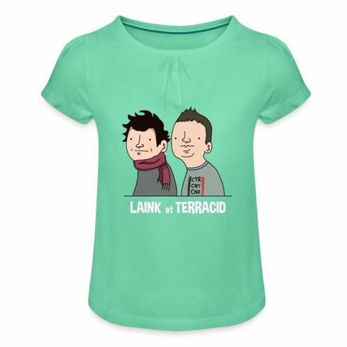 Laink et Terracid - T-shirt à fronces au col Fille