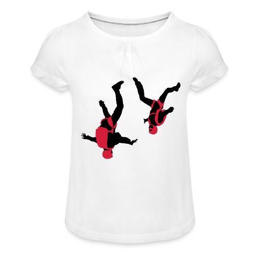 parachutisme Free Fly - T-shirt à fronces au col Fille