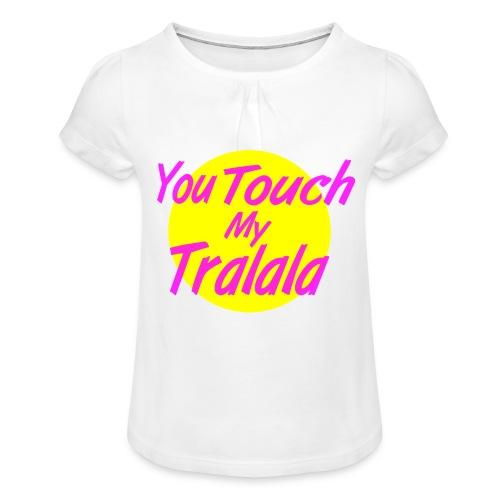 Tralala - T-shirt à fronces au col Fille