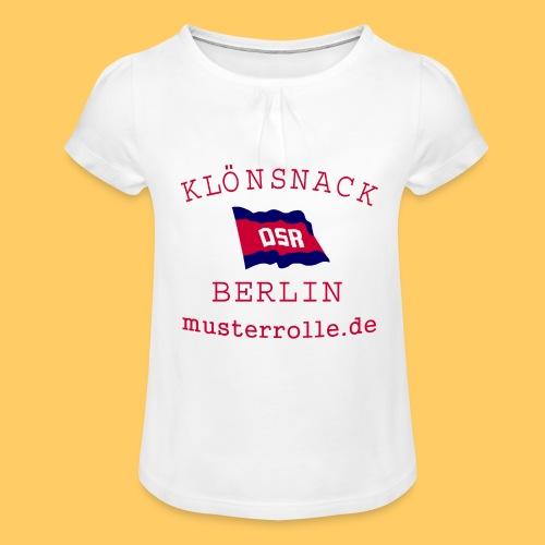 KiB-Logo-gif - Mädchen-T-Shirt mit Raffungen