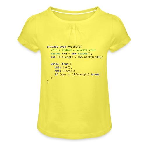 My Life C# - Maglietta da ragazza con arricciatura