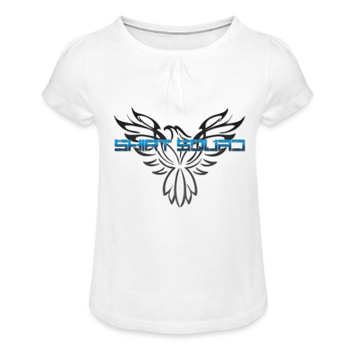 Shirt Squad Logo - Girl's T-Shirt with Ruffles