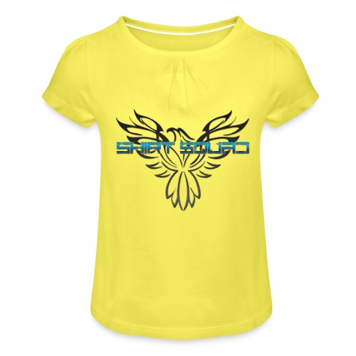 Shirt Squad Logo - Girl's T-Shirt with Ruffles
