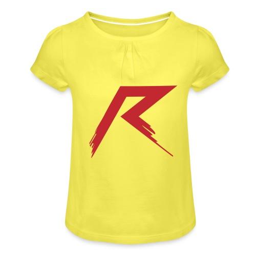 Raffie Logo - Meisjes-T-shirt met plooien