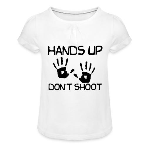 Hands Up Don't Shoot (Black Lives Matter) - Meisjes-T-shirt met plooien
