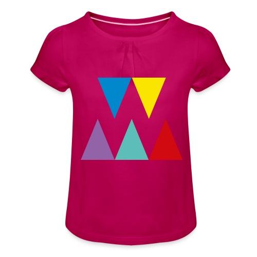 Logo We are les filles - T-shirt à fronces au col Fille